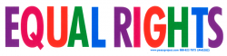 MS202 - Equal Rights - Small Bumper Sticker