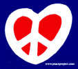 MS23 - Heart Peace Sign - Mini-Sticker