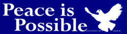 MS34 - Peace is Possible - Mini-Sticker