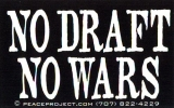 MS59 - No Draft No Wars - Mini-Sticker