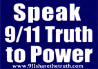 MS77 - Speak 911 Truth to Power - Mini-Sticker
