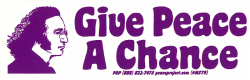 MS79 - Give Peace a Chance - John Lennon - Mini-Sticker