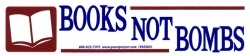 Book Not Bombs - Mini-Sticker