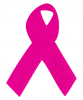 MS13 - Breast Cancer Awareness Pink Ribbon - Mini-Sticker