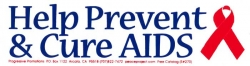 S270 - Help Prevent & Cure Aids - Bumper Sticker