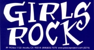S274 - Girls Rock - Bumper Sticker