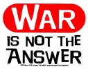 S279 - War is Not the Answer - Bumper Sticker