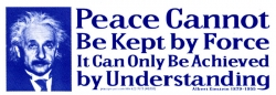 S310 - Peace Cannot Be Kept by Force... - Full-Size Sticker