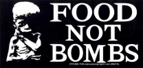 S415 - Food Not Bombs -  Bumper Sticker