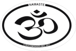 SX41 - Namaste (oval) - Bumper Sticker