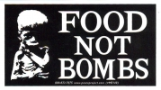 MS140 Food Not Bombs - Mini-Sticker