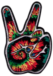 PS59 - Tie Dye Peace Fingers - Patch
