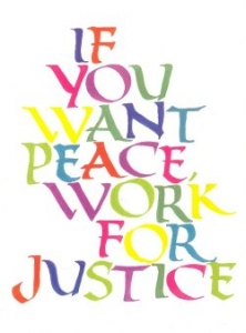 pc08 - If You Want Peace Work For Justice - Postcard