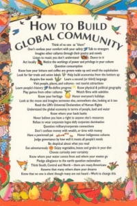 How To Build A Global Community - Postcard