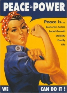 Peace is Power -Rosie the Riveter - Postcard