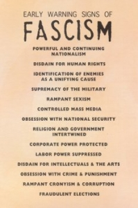 The Early Warning Signs of Fascism - Postcard