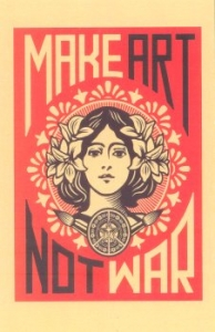 Make Art Not War - Postcards