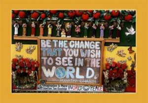 PC64 - We Must Be the Change We Wish to See in The World - Postcard
