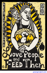 Love People and Feed Them - Baba - Postcard