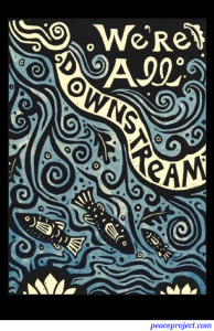 We are all Downstream - Postcard