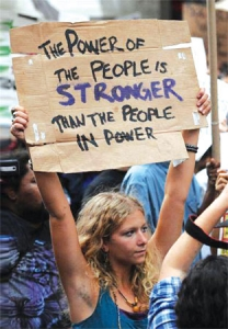 PC90 - The Power of the People is Stronger than the People in Power - Postcard