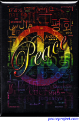 Peace Languages Word Cloud - Rectangular Magnet