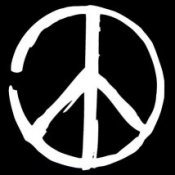 Peace Sign (On Black) - Women's T-Shirt