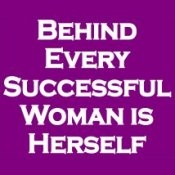Behind Every Successful Woman Is Herself (On Violet) - Women's T-Shirt