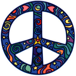 WA190 - Cosmo Peace Sign - Window Sticker