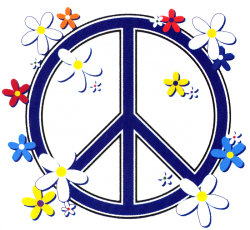 WA994 - Peace Sign Daisies - Window Sticker
