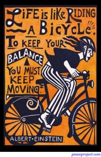Life is Like Riding a Bicycle - Einstein - Postcard