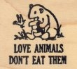 Love Animals, Don't Eat Them - Rubber Stamp