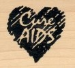 Cure AIDS - Rubber Stamp