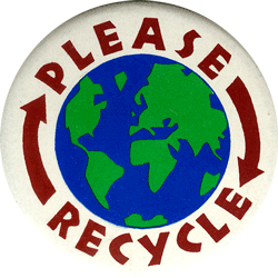 Vinylmark.com ›› Please Recycle Green Decal