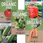 Organic & Heirloom Vegetable Seeds - Packets